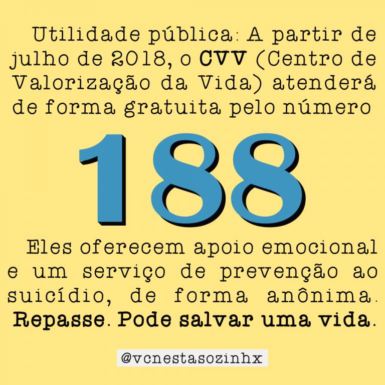 cvv 188 como lidar com pensamentos suicidas